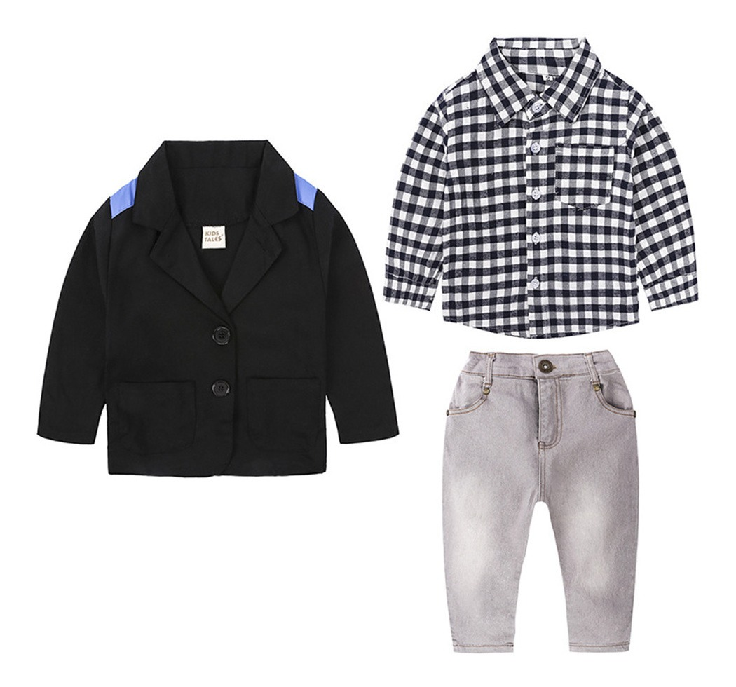 tiendas populares calzado buena calidad Niños Niños Niño Chaqueta De Moda Blazer+manga Larga Cami ...