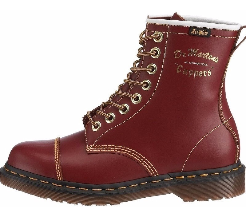 306b4c886045bf Niños Original Botas Dr Martens Capper 7inch Rojo Vintage ...