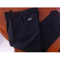 Pantalones Caballeros Gabardina Color Negro Talla 28 A 34