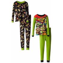 Pijama Importada 2 X 1 Niño Tortugas Ninja Tallas 8