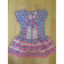Bello Vestido Para Niñas Con Faralados Talla 5