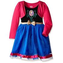 Bello Vestido De Frozen Princesa Anna Talla 6