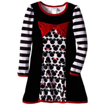 Bello Vestido De Disney Minnie De Gamuza Talla 6