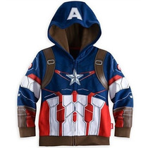Capitan America Poleron Tipo Disfraz Talla 3 A Talla 10