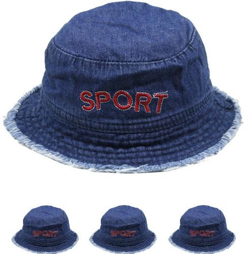 niños 's demin deporte cubo verano sombrero caso paquete 72