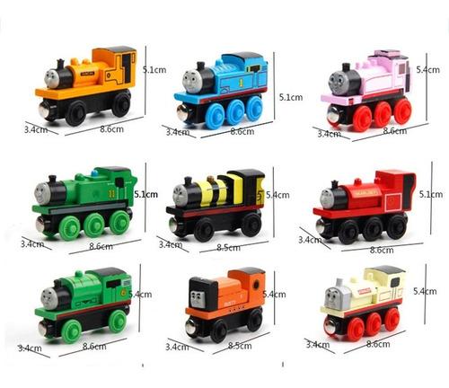 niños ' s trenes juguete magnético thomas de madera tren c