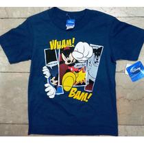 Mickey Mouse Sweater Franela Deporte Import Original
