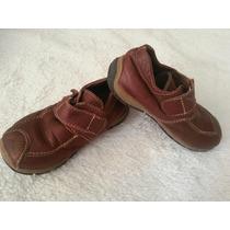 Zapatos De Cuero Italiano, Niño