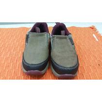 Zapatos Oshkosh Beige Con Vinotinto Usados Talla 6 -13cm