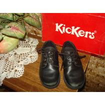 Zapatos Escolares Kickers Para Niños