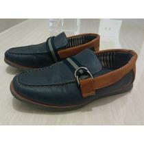 Zapatos Casuales Para Niño Azul Marca Bsh Usado