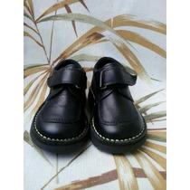 Zapatos Escolares Valle Verde Talla 21 Negro Niño