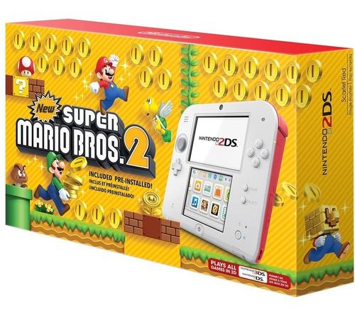 nintendo 2ds blanco rojo new super mario bros 2 edition