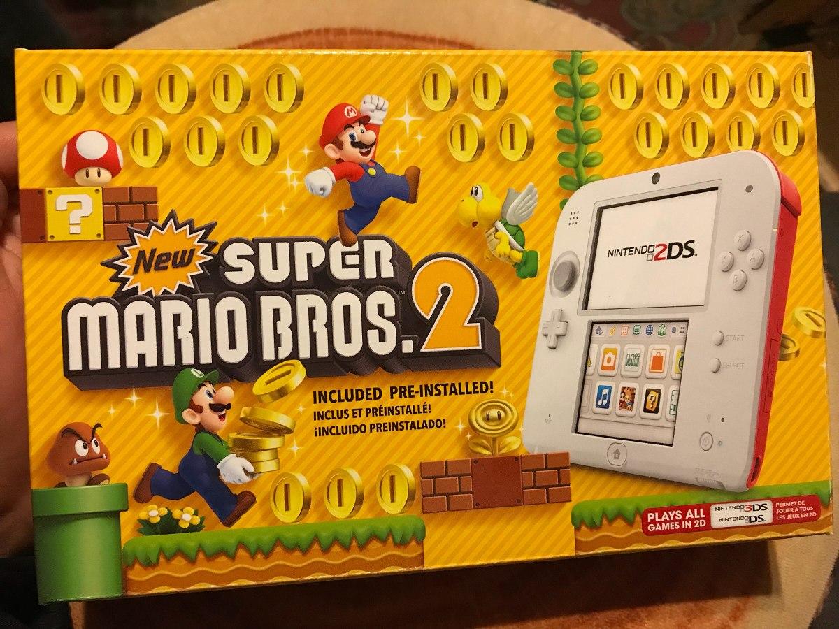 Nintendo 2ds Color Scarlet Red Con Juego Super Mario Bros 2