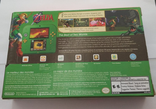 nintendo 2ds zelda edition roda 3ds wifi ar cards + jogo