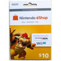 Tarjeta Prepago Nintendo Eshop 3ds Wii U 10 Usd Cash Card