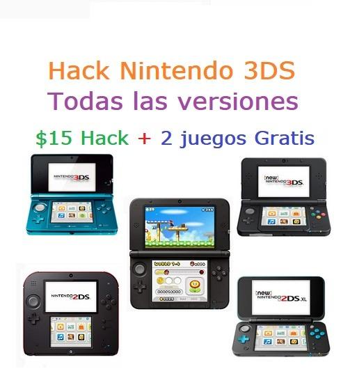 Nintendo 3ds Hack 15 Y 2 Juegos Gratis U S 15 00 En Mercado Libre
