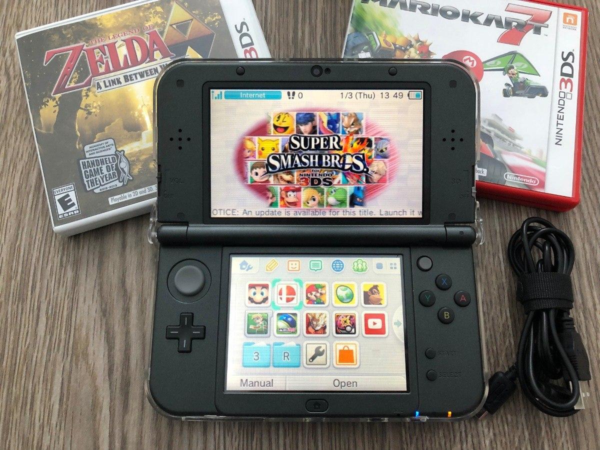 Nintendo 3ds Xl 32gb Protector 10 Juegos Y Cable De Carga