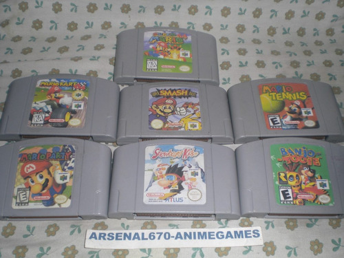 nintendo 64 con smash bros crusing usa mischief makers n64