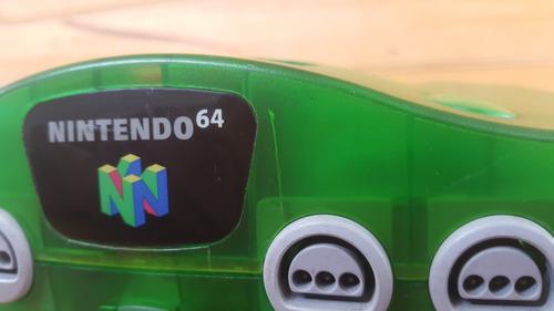 nintendo 64 jungle green +  control + juego. #somostienda