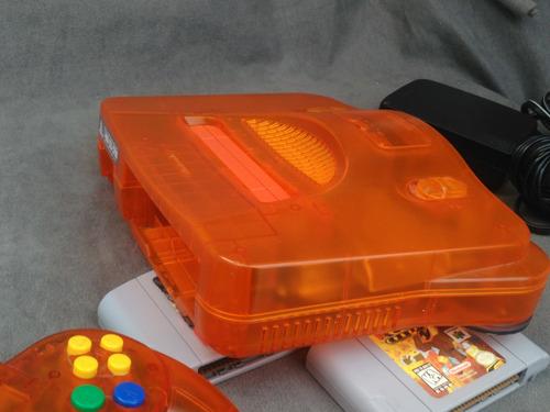nintendo 64 naranja transparente - anaranjado