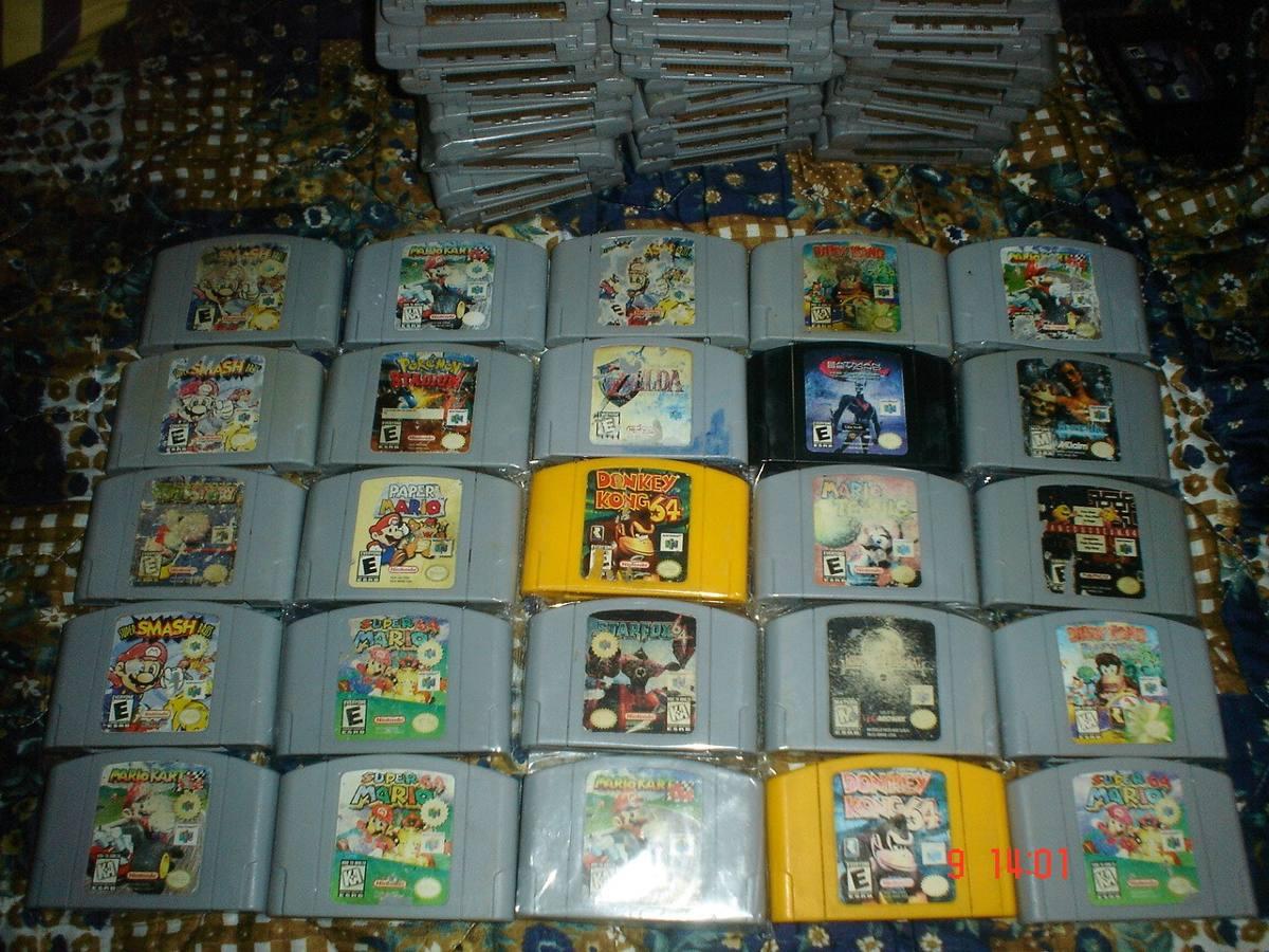 Nintendo 64 Paquete 6 Juegos Parte 5a Donkey Mario N64 1 280 00