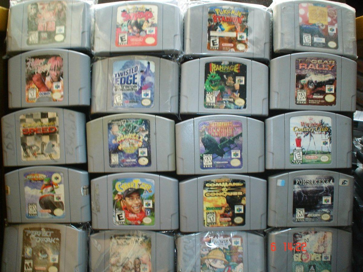Nintendo 64 Paquete 8 Juego Parte 7a Mario Banjo Pokemon N64