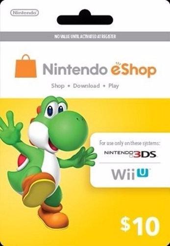 nintendo eshop $10 gift card - switch / wii u / 3ds