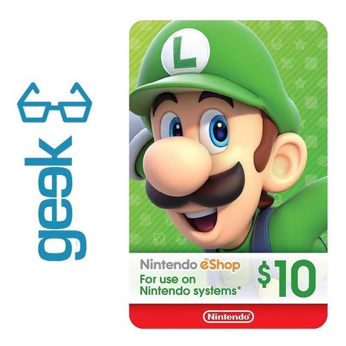 nintendo eshop tarjeta codigo $10 garantizados ecuador geek
