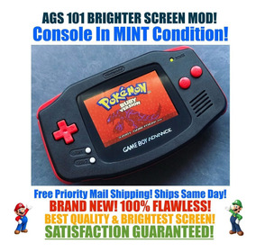 Nintendo Game Boy Advance Gba Negro Rojo Sistema Ags 101 Br