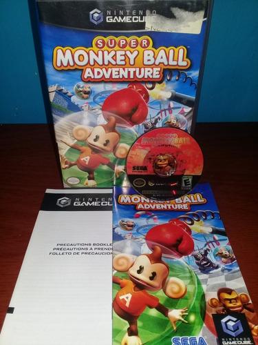 nintendo game cube super monkey ball adven original garantia