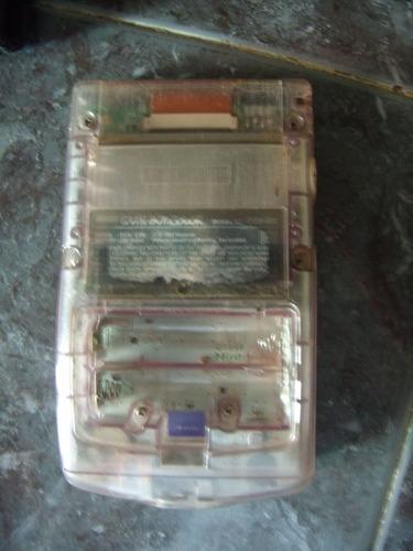 nintendo gameboy color - carcasa morada transparente