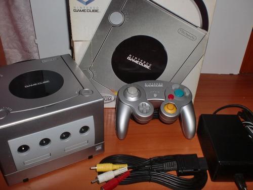 nintendo gamecube platinum + juegos - como nuevo!! ($100)