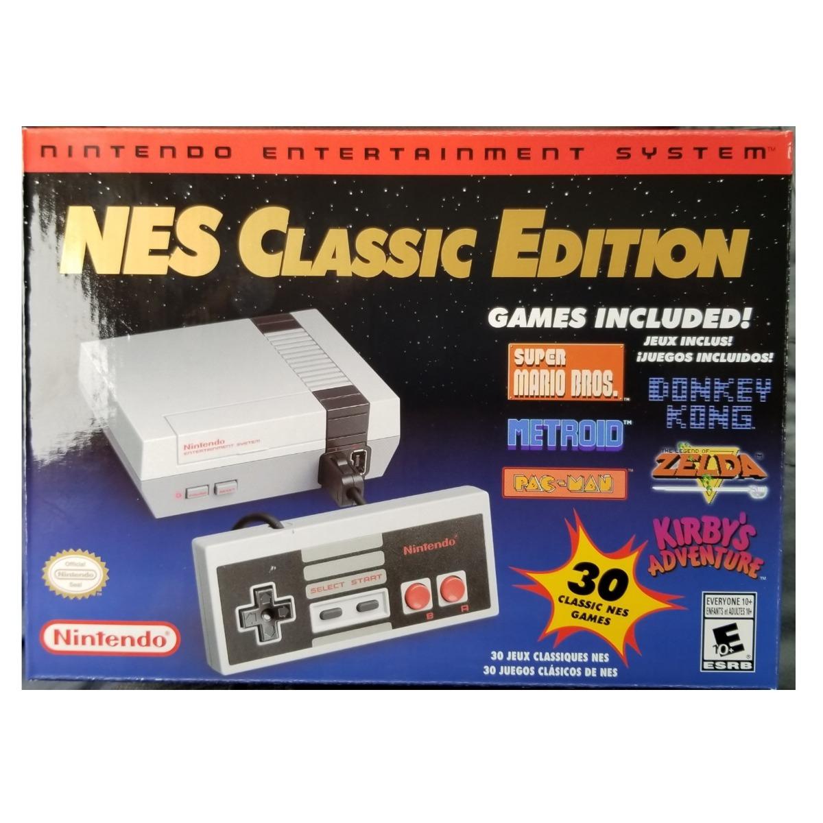 Nintendo Classic Mini 30 Juegos Clasicos Nes Zelda Mario