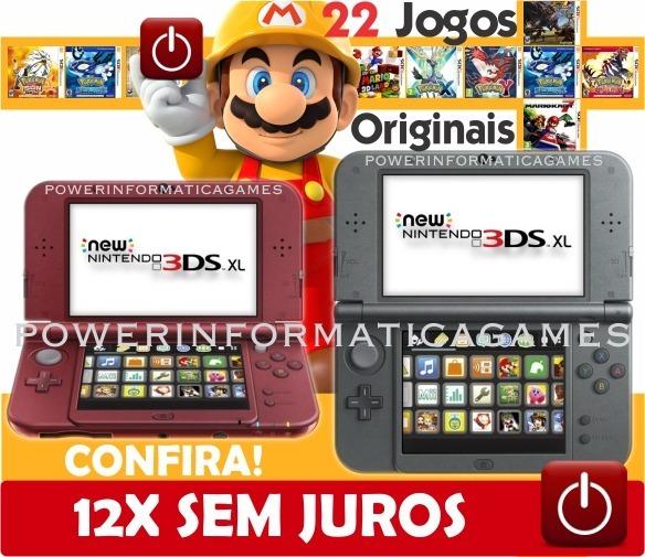 7f56ecbaa Nintendo New 3ds Xl 23 Jogos Originais + Película + Bolsa - R$ 1.284 ...