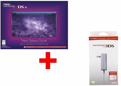 nintendo new 3ds xl new galaxy style + fonte novo lacrado