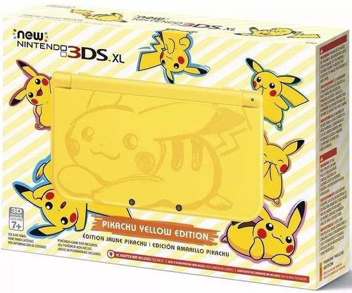 nintendo new 3ds xl pikachu yellow edition novo