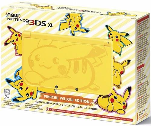 nintendo new 3ds xl pikachu yellow edition novo - e-sedex