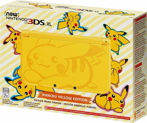 nintendo new 3ds xl yellow pikachu 3ds sellado entrega inmed