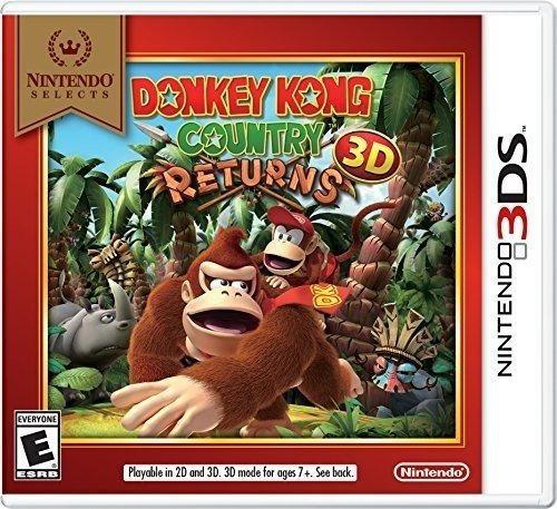 nintendo selecciona: donkey kong country returns 3d.