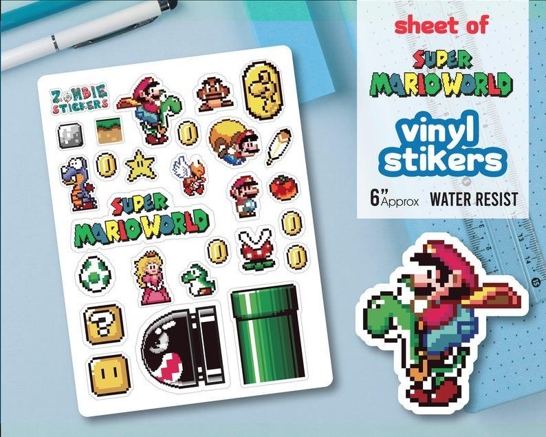 Nintendo Stickers, Vinyl Sticker, Super Mario Bros Sticker