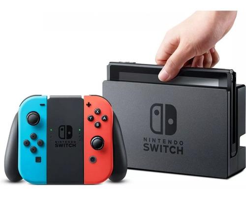 nintendo switch 32 gb azul y rojo totalmente nuevo