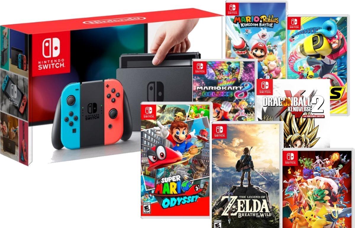 Nintendo Switch 32 Gigas Juego A Eleccion Envio Gratis