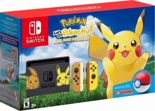 nintendo switch 32gb pikachu pokemon incluye pokeball juego