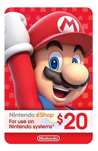 nintendo switch 3ds eshop 20 usd codigo digital para juegos