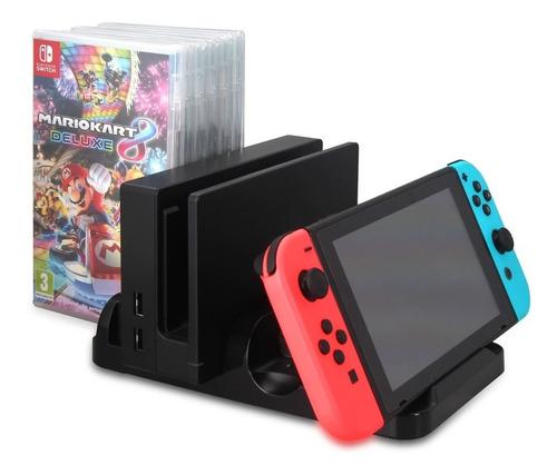 nintendo switch cargador multifuncional apoya juegos