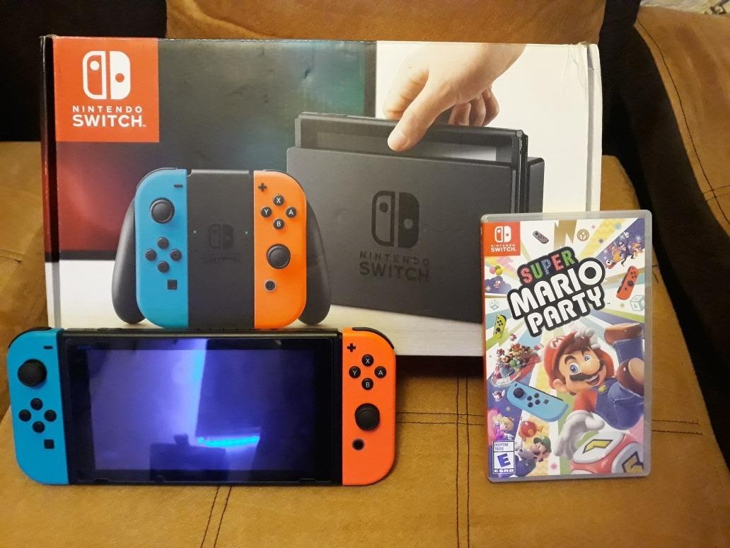 Nintendo Switch Como Nuevo Con Mario Party Y 3 Juegos Mas U S 420