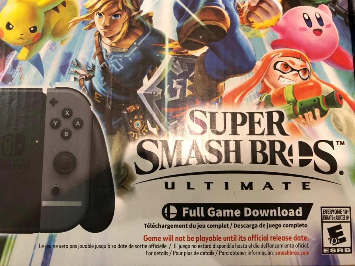 Nintendo Switch Consola Super Smash Bros Nueva Envio Gratis