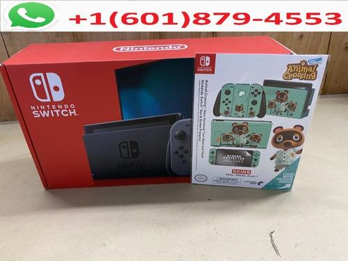 nintendo switch console con neon blue / neon red joy