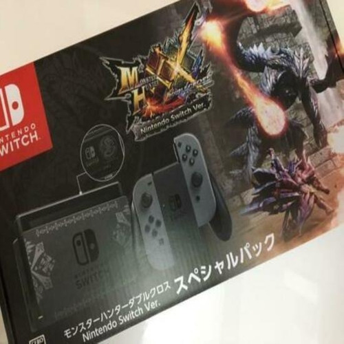 nintendo switch console system monster hunter xx limited box